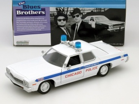 Dodge Monaco Chicago Police Department Blues Brothers 1980 white 1:24 Greenlight