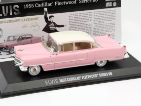 Cadillac Fleetwood Series 60 Elvis Presley Year 1955 pink with white roof 1:43 Greenlight