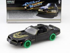 Pontiac Trans Am Smokey and the Bandit I 1977 schwarz / gold / grün 1:24 Greenlight