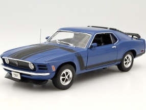 Ford Mustang Boss 302 Year 1970 blue 1:18 Welly