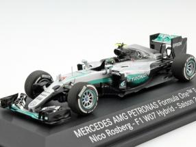 Nico Rosberg Mercedes F1 W07 Hybrid #6 World Champion formula 1 2016 1:43 Minichamps MB