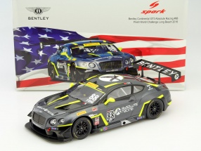 Bentley Continental GT3 #88 9th Long Beach 2016 Adderly Fong 1:18 Spark