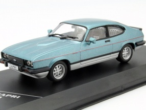 Ford Capri MK III 2.8 Injection Baujahr 1982 blau 1:43 WhiteBox