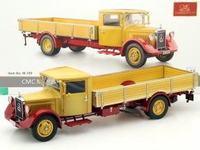 Mercedes-Benz LO 2750 Pritschenwagen Baujahr 1934-38 gelb / rot 1:18 CMC