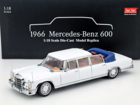 Mercedes-Benz 600 Landaulet Year 1966 white 1:18 SunStar