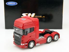 Scania V8 R730 (6x4) Year 2015 red 1:32 Welly