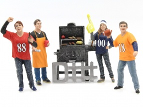 Tailgate Party Set II 1:18 American Diorama