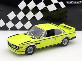 BMW 3.0 CSL (E9) Coupe Baujahr 1973 gelb 1:18 Minichamps