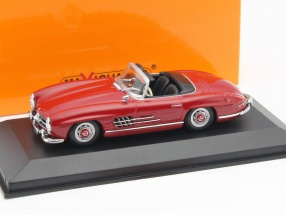 Mercedes-Benz 300 SL Roadster Year 1955 red 1:43 Minichamps