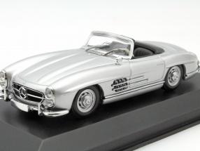 Mercedes-Benz 300 SL Roadster Baujahr 1955 silber 1:43 Minichamps