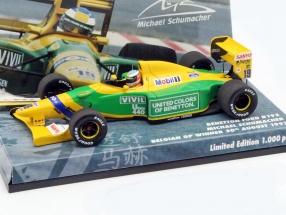 M. Schumacher Benetton B192 #19 Winner Belgium GP formula 1 1992 1:43 Minichamps