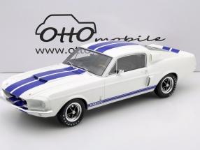 Ford Mustang Shelby GT500 Baujahr 1967 weiß / blau 1:12 OttOmobile