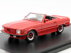 Mercedes-Benz AMG 500 SL R107 Year 1983 red 1:43 GLM