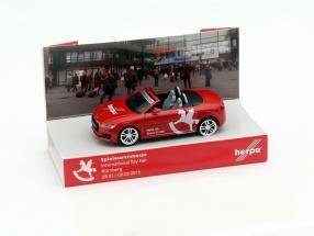 Audi TT Toy Fair Nuremberg 2015 red 1:87 Herpa