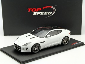 Jaguar F-Type R Coupe Baujahr 2017 weiß 1:18 TrueScale