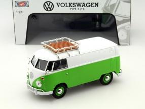 Volkswagen VW Type 2 T1 Lieferwagen grün / weiß 1:24 MotorMax