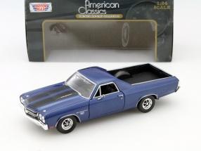 Chevrolet El Camino SS 396 Baujahr 1970 blau 1:24 MotorMax
