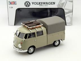 Volkswagen VW Type 2 T1 Pick Up khaki 1:24 MotorMax