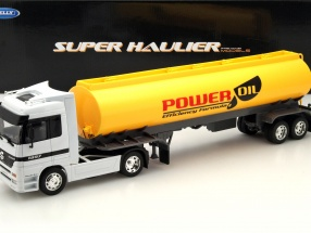 Mercedes-Benz Actros Power Oil Super Haulier gelb / weiß 1:32 Welly