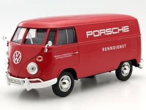 Volkswagen VW Type 2 T1 Porsche racing service red 1:24 MotorMax