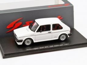 Volkswagen VW Golf GTI 16S Oettinger Baujahr 1981 weiß 1:43 Spark