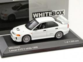 Mitsubishi Lancer Evo V RHD white 1:43 WhiteBox