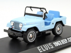 Jeep CJ5 Year 1963 Elvis blue 1:43 Greenlight