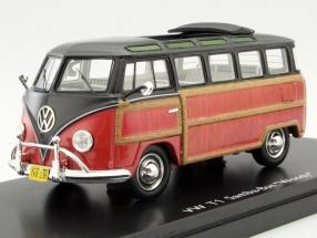 Volkswagen VW T1 Samba Bus Woody schwarz / braun 1:43 Schuco