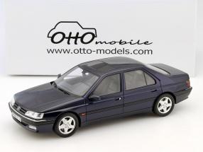 Peugeot 605 SV 24 Baujahr 1997 dunkelblau 1:18 OttOmobile