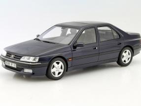 Peugeot 605 SV 24 year 1997 dark blue 1:18 OttOmobile