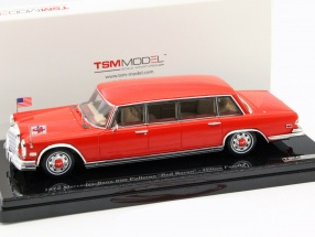 Mercedes-Benz 600 Pullman Red Baron Hilton Family Baujahr 1972 rot 1:43 TrueScale