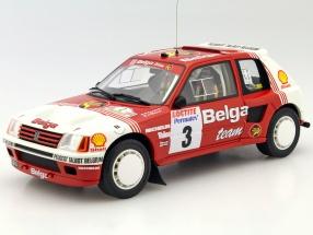 Peugeot 205 T16 Groupe B #3 Rallye Ypres 1985 Darniche, Mahe 1:18 OttOmobile