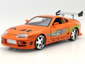 Brian's Toyota Supra out the Movie Fast and Furious 7 2015 orange 1:24 Jada Toys