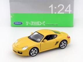 Porsche Cayman S Baujahr 2006 gelb 1:24 Welly