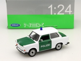 Trabant 601 police green / white 1:24 Welly