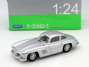 Mercedes-Benz 300 SL silbergrau 1:24 Welly