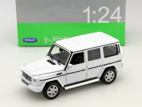 Mercedes-Benz G-Class year 2009 white 1:24 Welly
