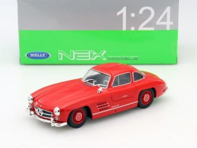 Mercedes-Benz 300 SL red 1:24 Welly