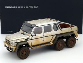 Mercedes-Benz G63 AMG 6x6 Baujahr 2013 Muddy Version silber 1:18 AUTOart