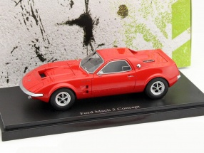 Ford Mach 2 Concept Car Baujahr 1967 rot 1:43 AutoCult
