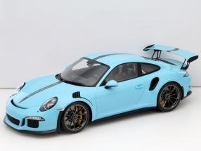 Porsche 911 (991) GT3 RS olympia blau mit Vitrine 1:12 Spark