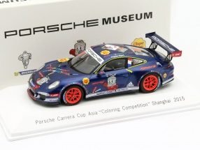 Porsche 911 Carrera GT3 Cup #88 Asia Coloring Competition Shanghai 2015 Ripert 1:43 Spark