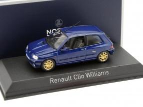 Renault Clio Williams Baujahr 1996 blau 1:43 Norev