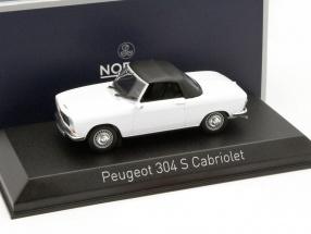 Peugeot 304 S Cabriolet Baujahr 1973 weiß 1:43 Norev