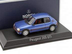 Peugeot 205 GTi Baujahr 1992 miami blau 1:43 Norev