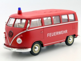 Volkswagen VW Classical Bus Year 1962 Fire department 1:24 Welly