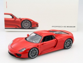 Porsche 918 Spyder Indian red 1:18 Welly