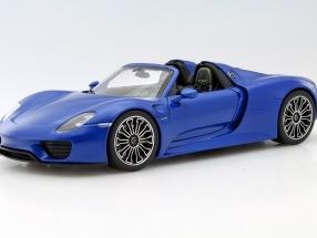 Porsche 918 Spyder sapphire blue 1:18 Welly