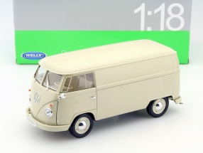 Volkswagen VW T1 Bus year 1963 cream 1:18 Welly