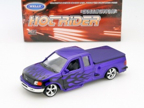 Ford F-150 Flareside Supercab Pick-Up Baujahr 1999 lila 1:24 Welly